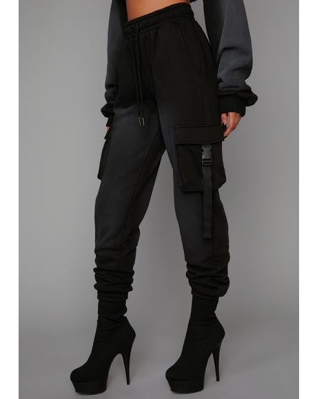 Attitude Adjustment Washed Cargo Joggers