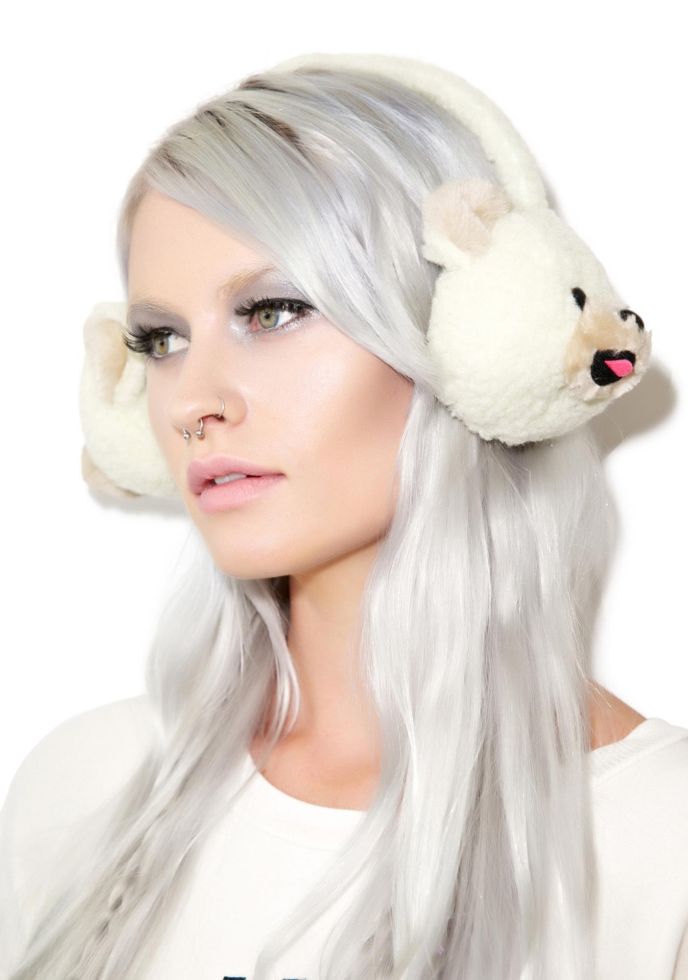 Beary Cute Plush Earmuffs