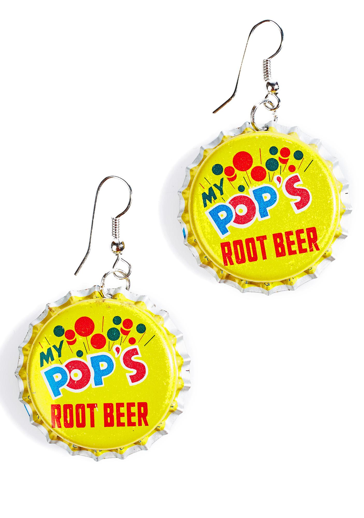 Root Beer Bottle Cap Earrings