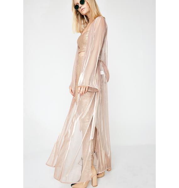 Golden Touch Sheer Kimono