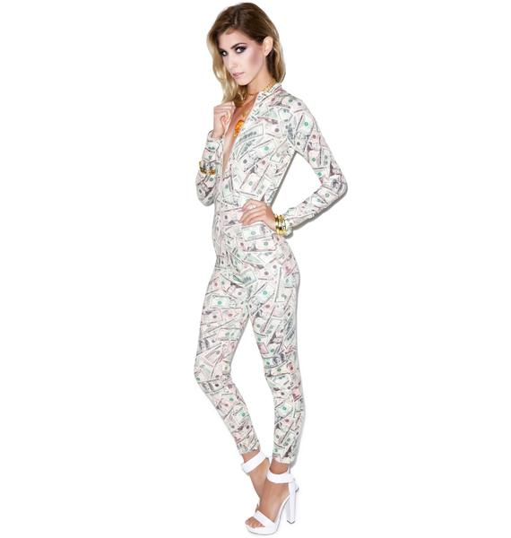 Get Money Print Catsuit