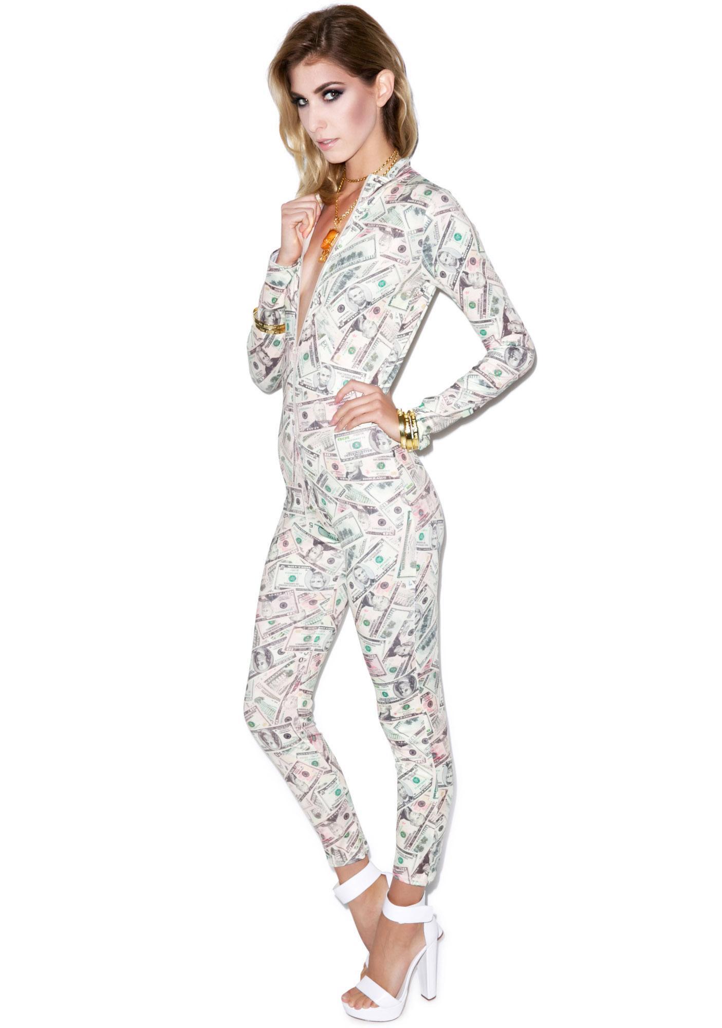 Get Money Print Catsuit