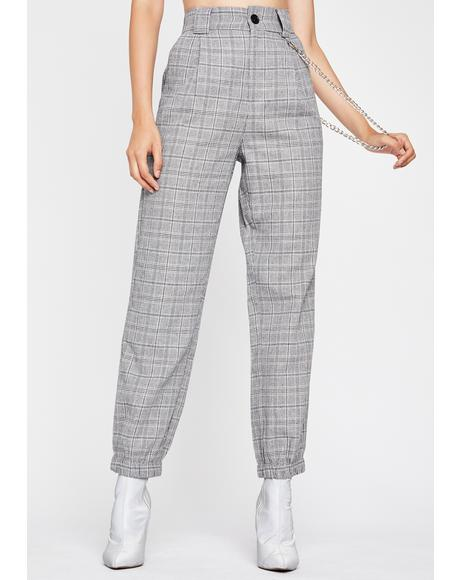 In Session Plaid Joggers