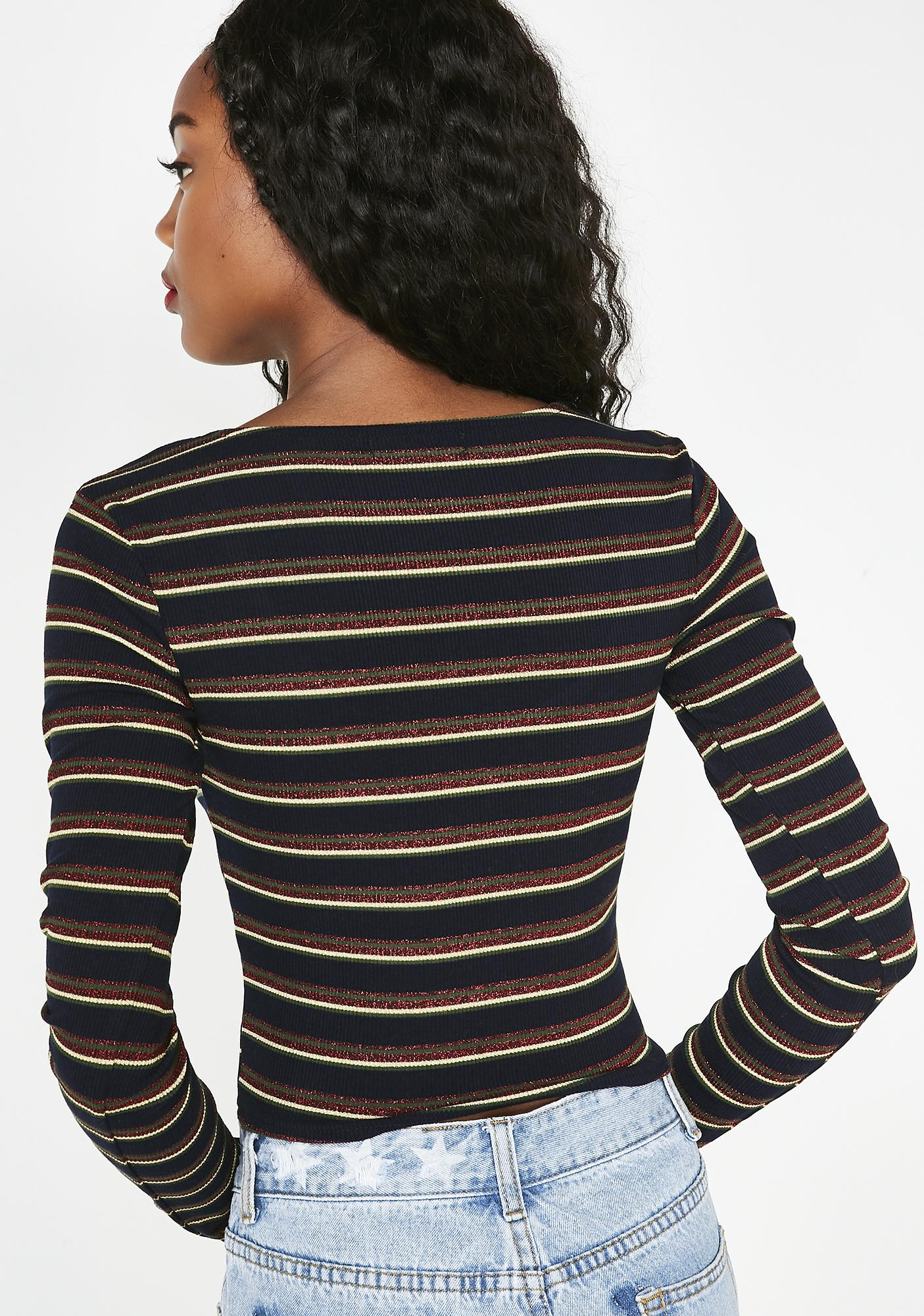 A Whole Hottie Striped Top