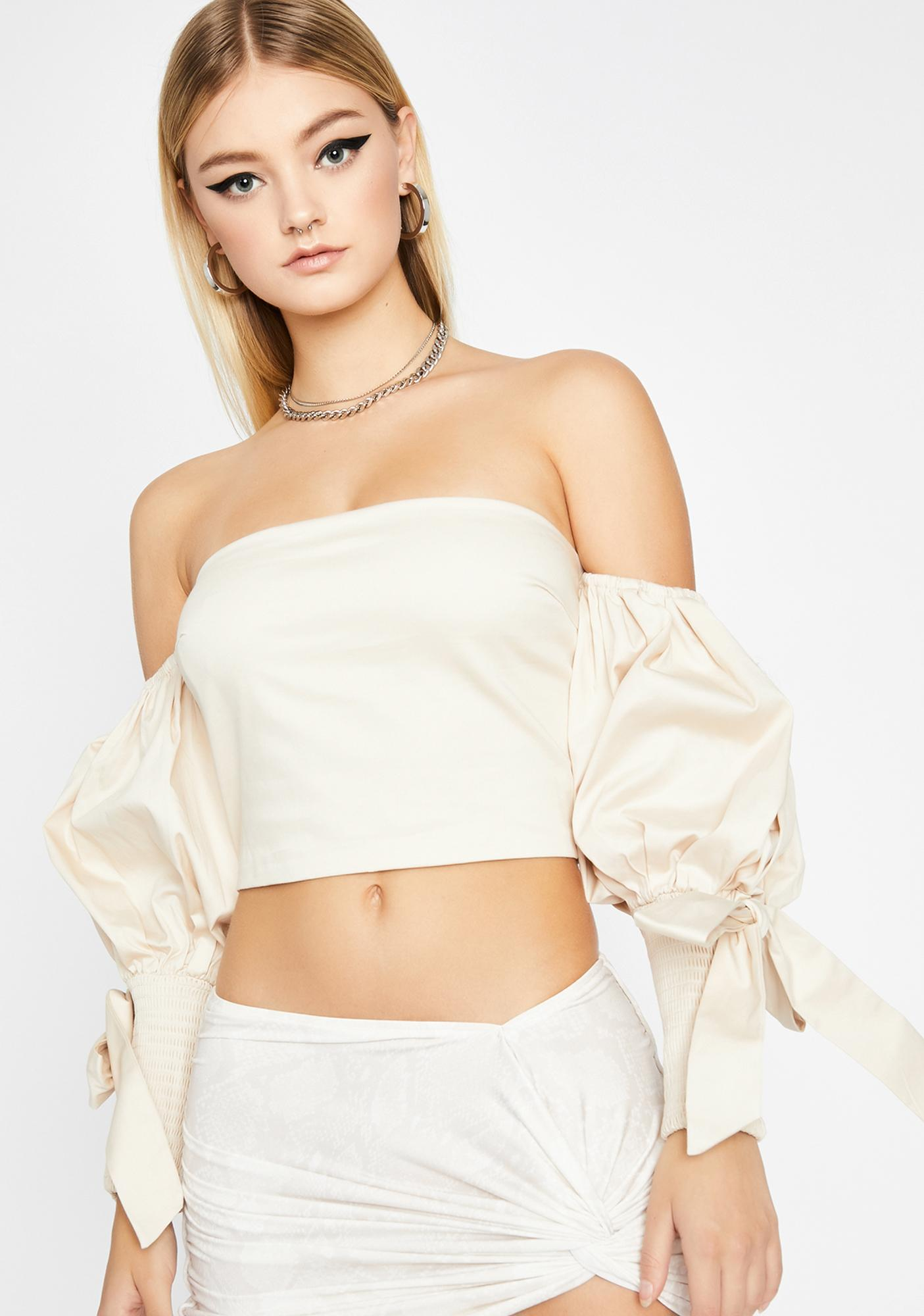 Dreamy Skies Puff Sleeve Blouse