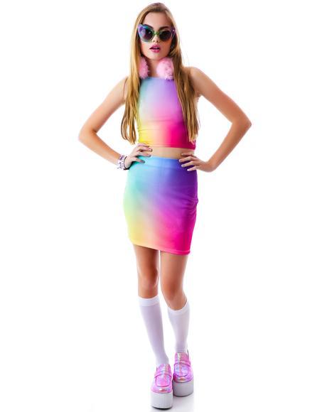 Unicorn Puke Skirt