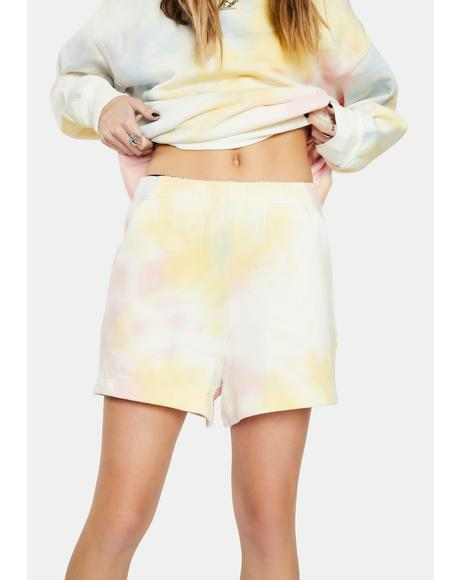 Rainbow Terry Sweatshorts
