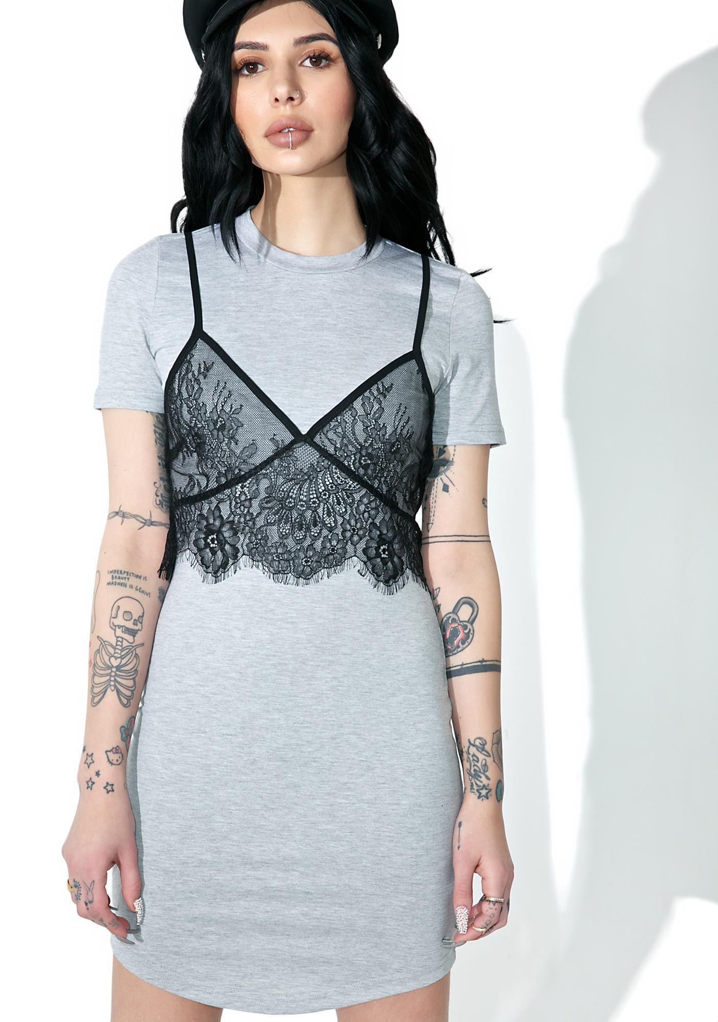 Slummin' It Lace Layer Dress