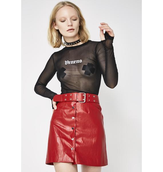 Kiki Riki Rev Me Up Belted Mini Skirt