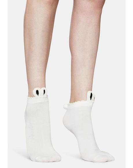 Holy Big Buns Rabbit Footie Socks