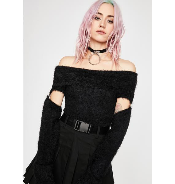Current Mood Off Limits Cut Out Sweater