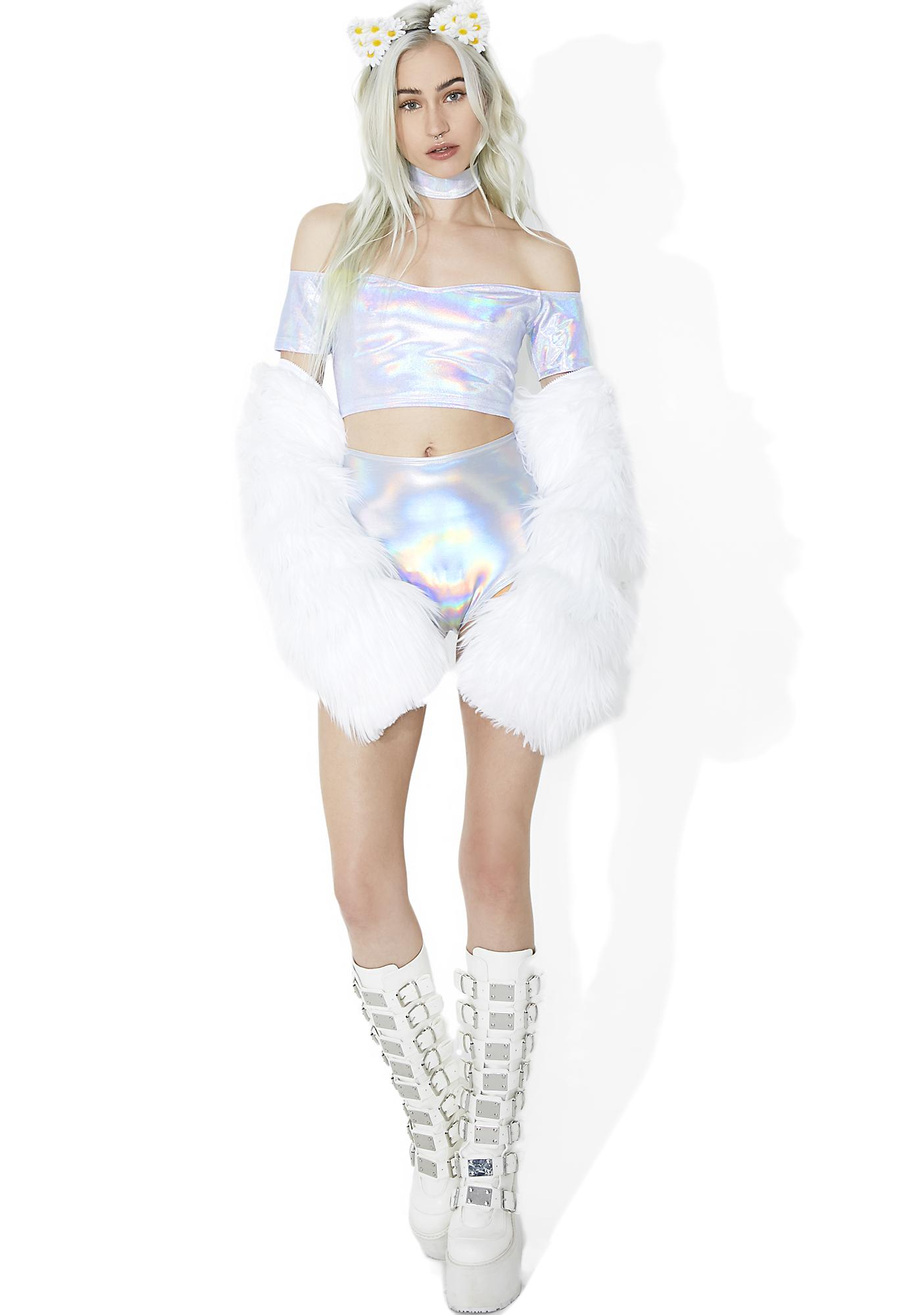 Rolita Rave Couture Stardust Reflection Crop Top