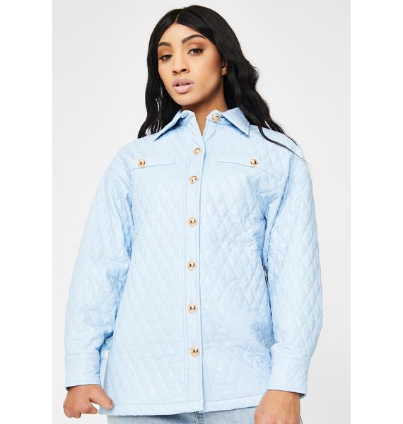 ZEMETA Dolly Blue Leather Jacket