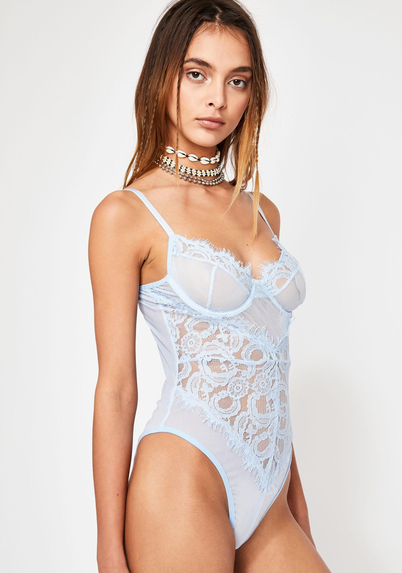 Romantic Skies Lace Bodysuit