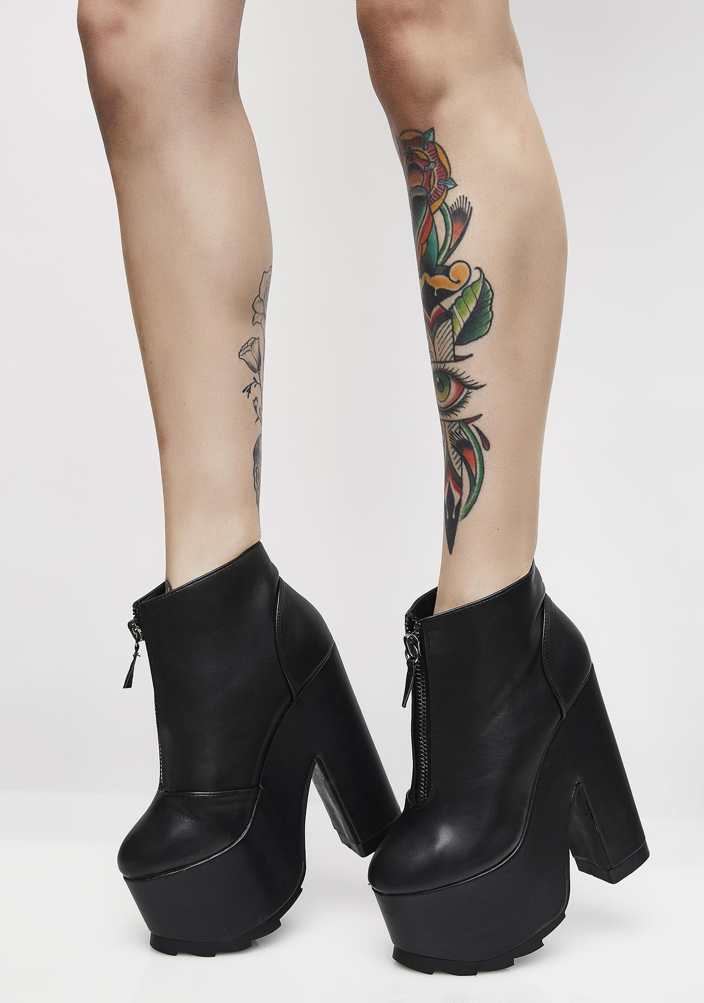 Y.R.U. REM Nightmare Platform Booties