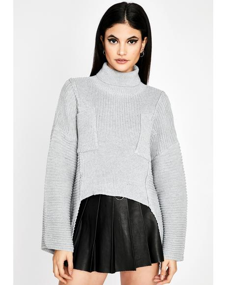 Dove Goin' Steady Knit Sweater