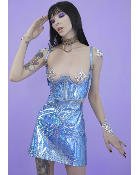 Crystal Realm Holographic Corset