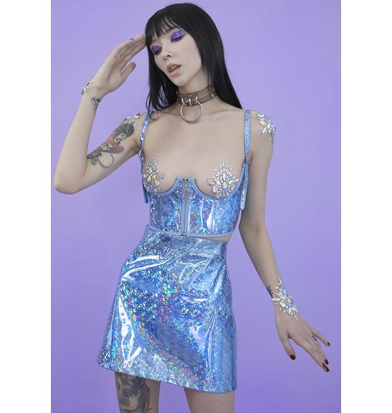 HOROSCOPEZ Crystal Realm Holographic Corset