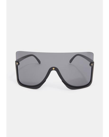 Bad Broken Promises Oversized Sunglasses