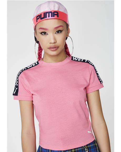 FENTY PUMA By Rihanna Short Sleeve Cropped Tee