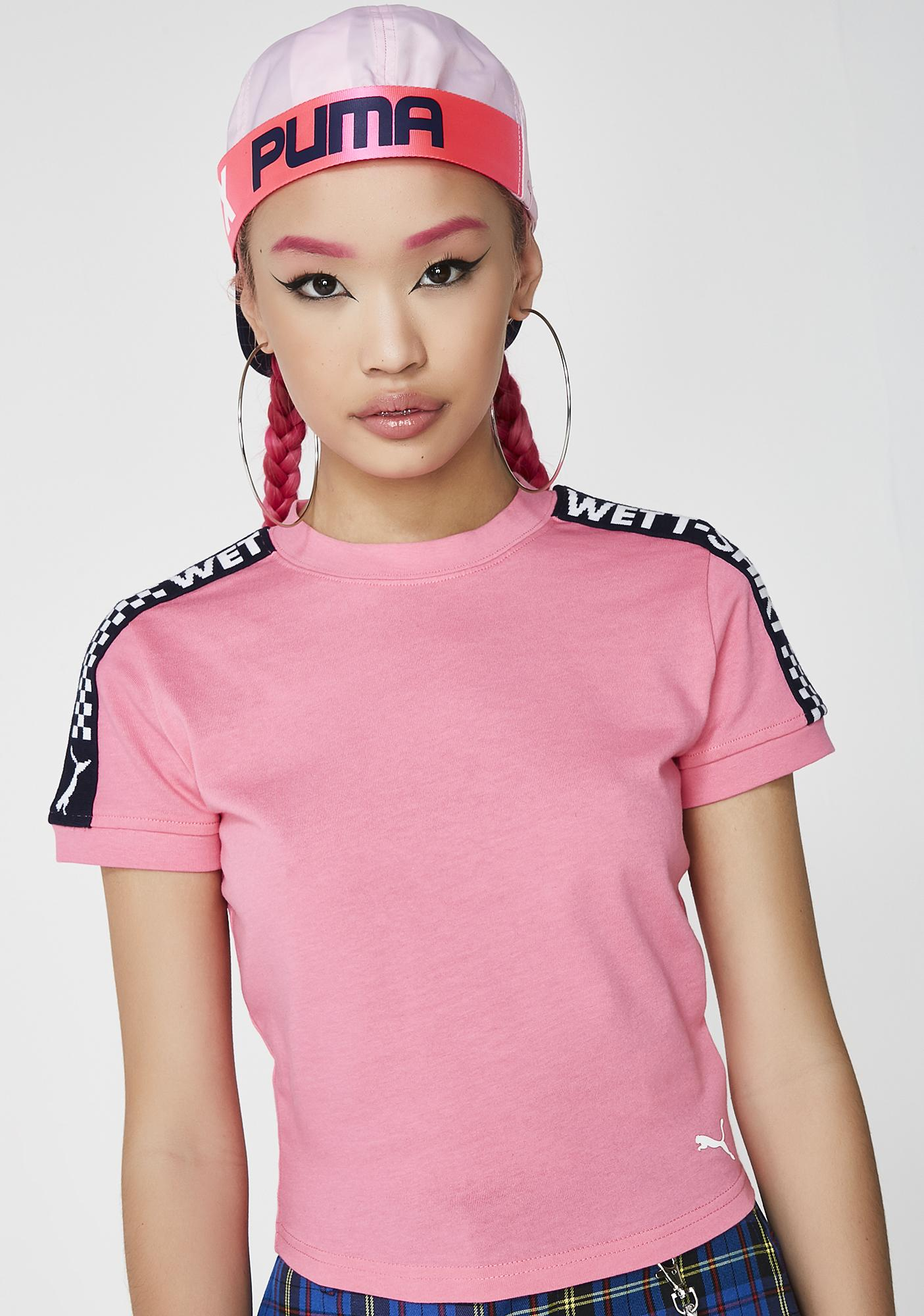half off 49f21 9ce18 FENTY PUMA By Rihanna Short Sleeve Cropped Tee