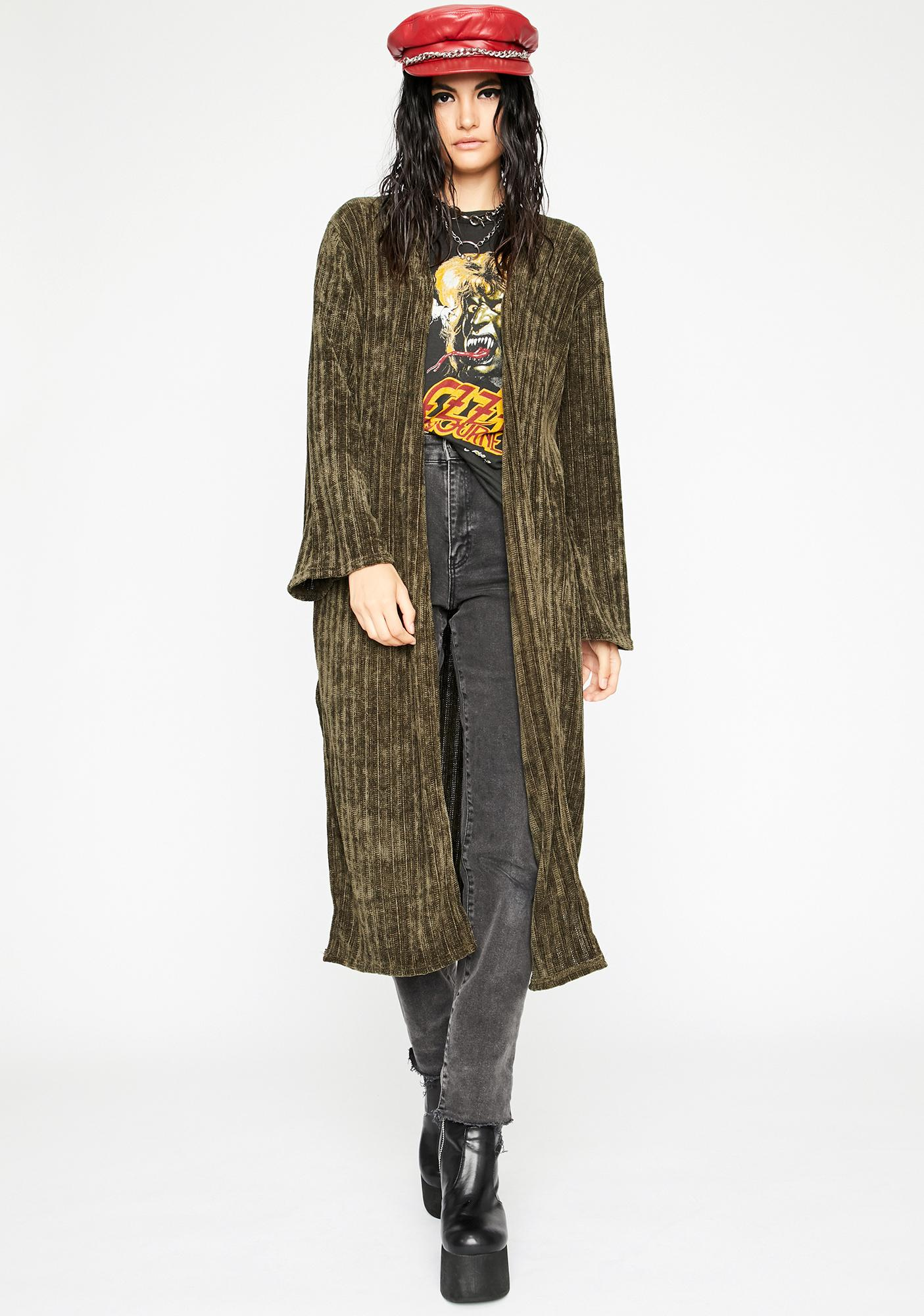 Dank Troubled Tempo Corduroy Duster