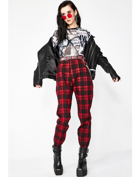 Bloody Misconduct Plaid Joggers