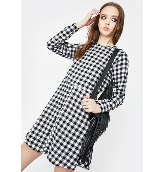 Daisy Street Gingham Check Smock Dress