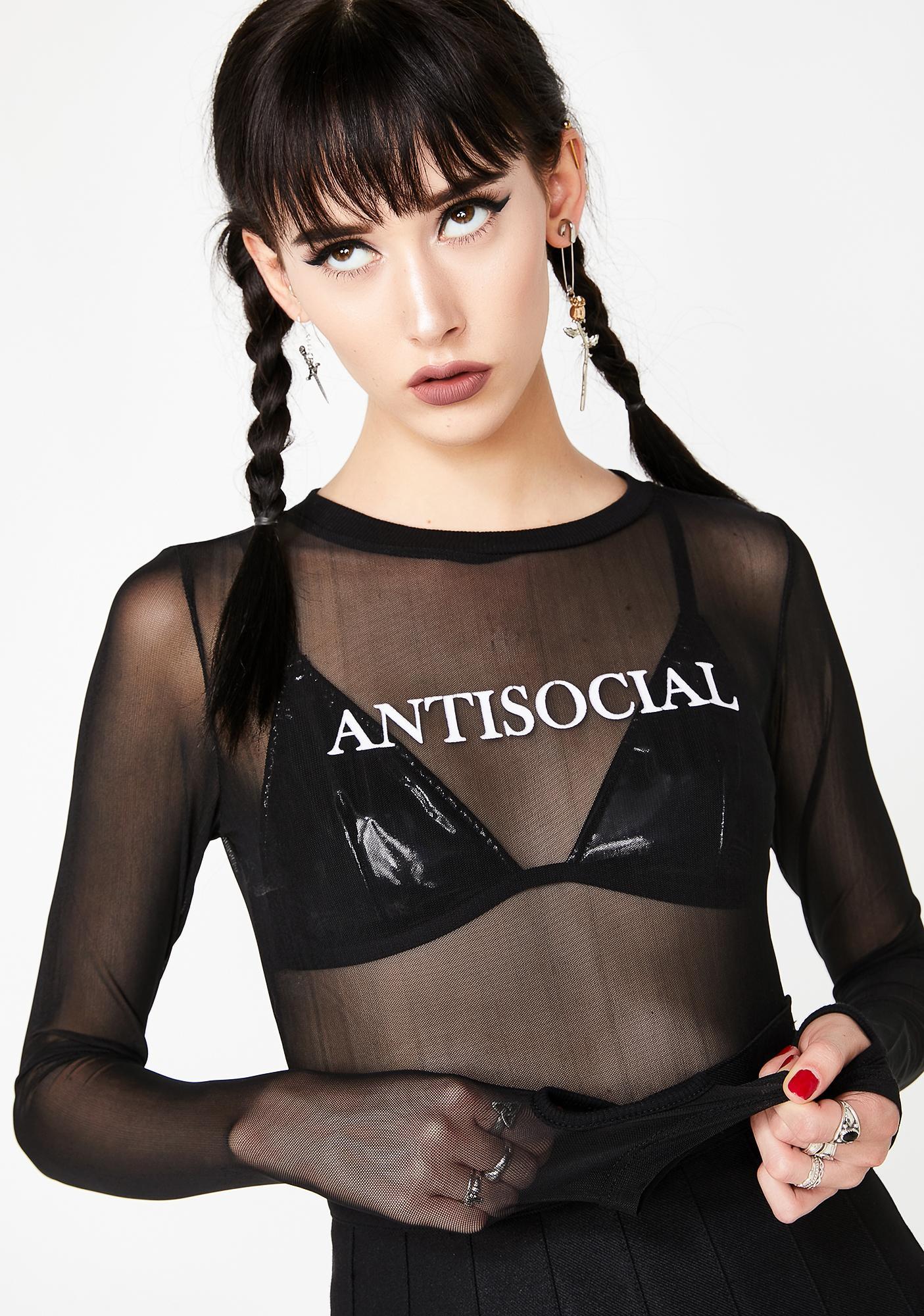 Widow Antisocial Mesh Long Sleeve Tee