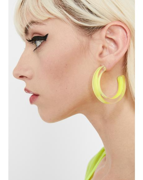Electrik Wave Hoop Earrings