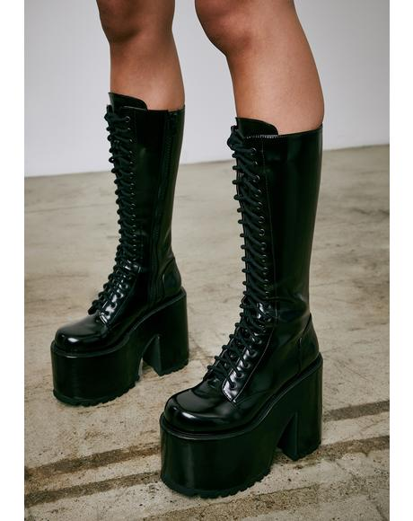 Rise And Fall Knee High Boots