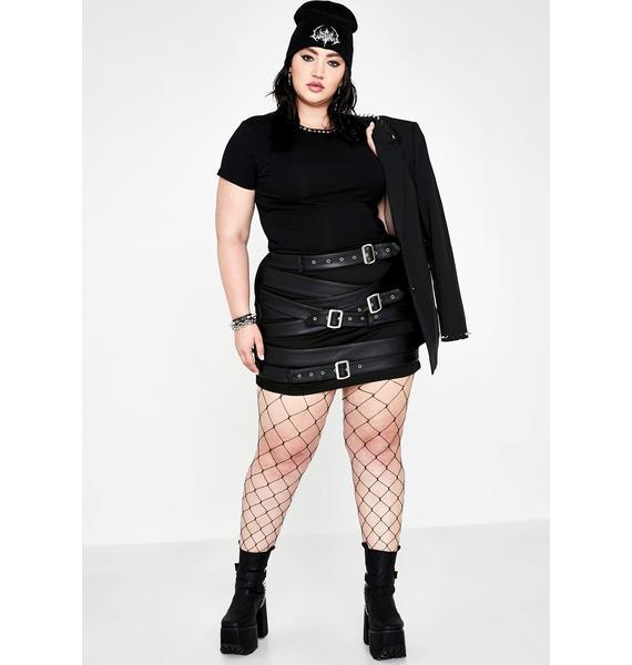 Current Mood Hella Cash Strapped Mini Skirt