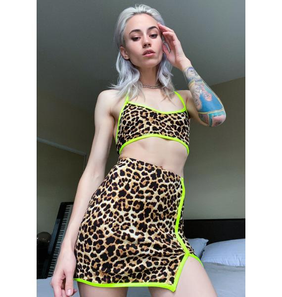 Big Cat Energy Skirt Set