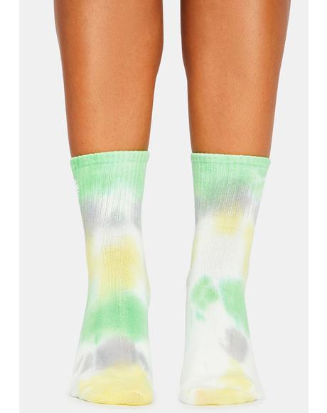 Lush Galactic Flower Crew Socks