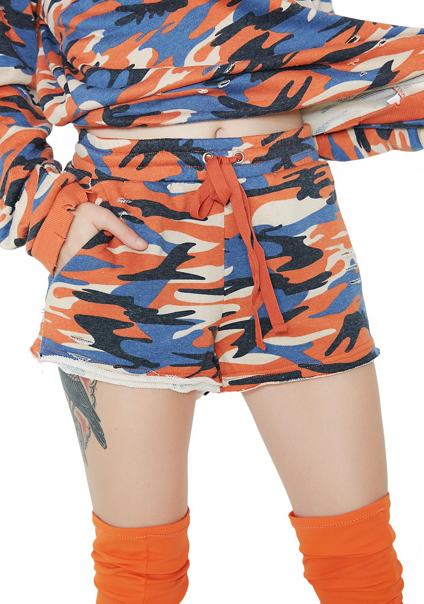 Rebel With A Cause Camo Shorts