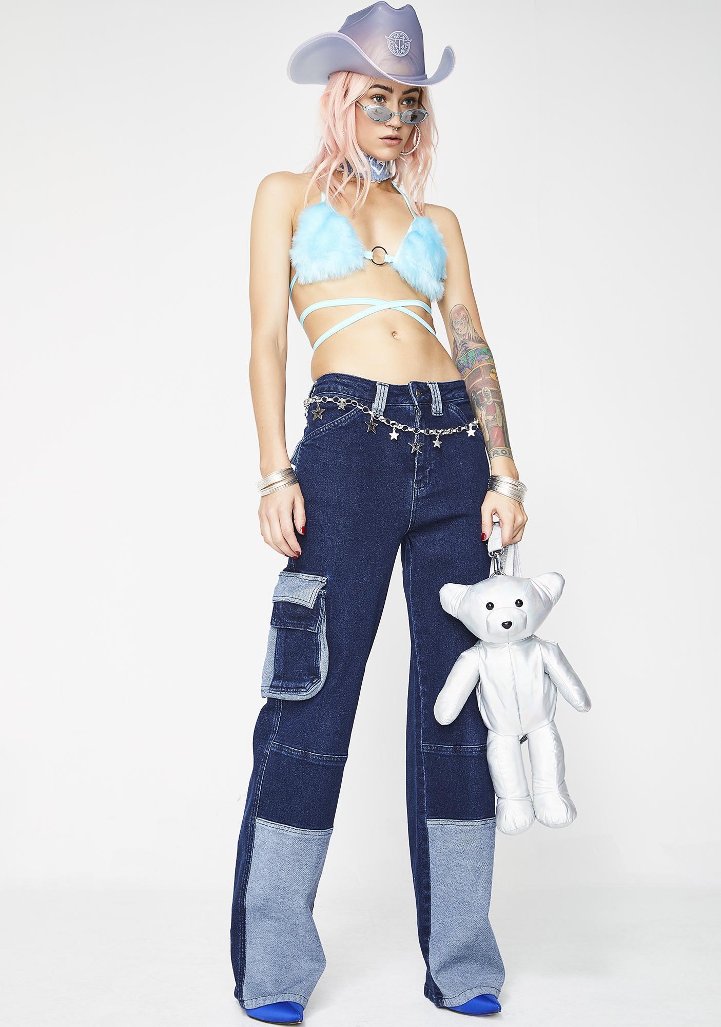Jaded London Wide Leg Cargo Jeans