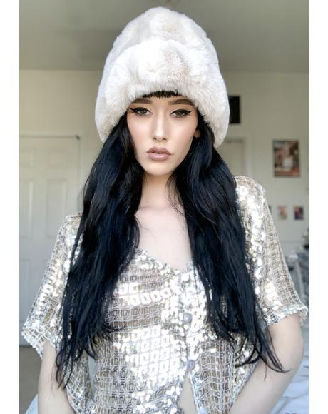 Cold Hearted Faux Fur Beanie