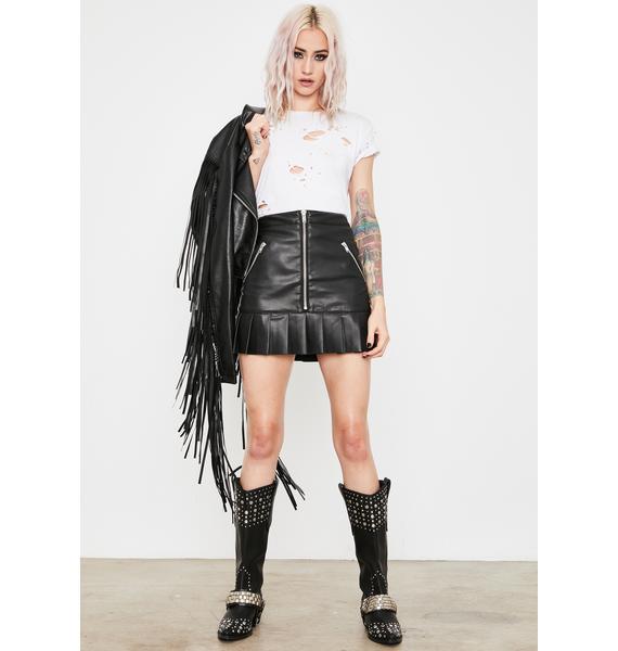 Current Mood Gimme A Riff Zipper Skirt