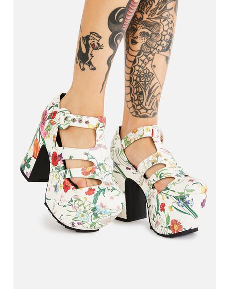 Bliss Watch Me Bloom Platform Heels