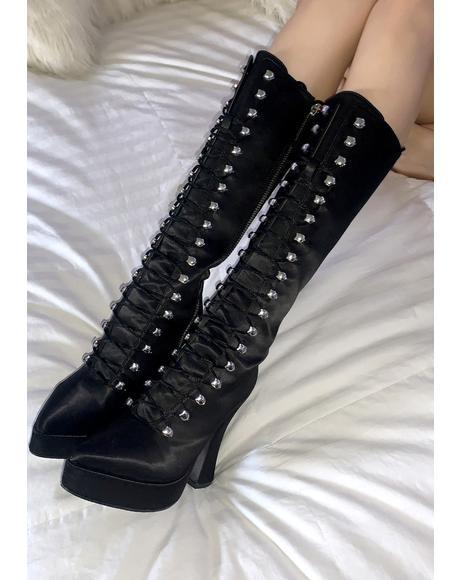 Escape Plan Lace Up Boots