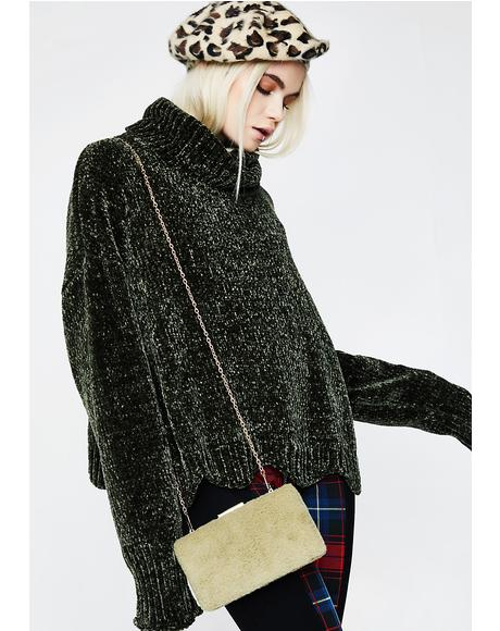 Mark My Words Fuzzy Crossbody