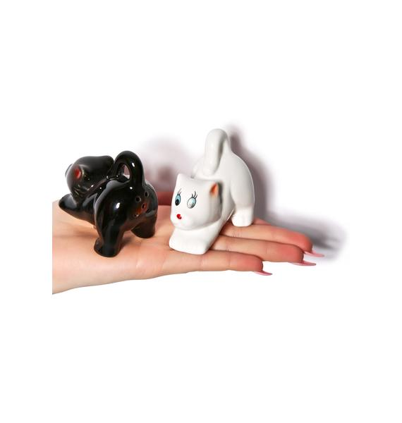 The Cat's Ass Salt & Pepper Shakers