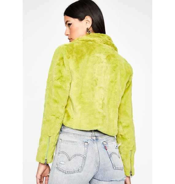 Stay Posted Faux Fur Jacket