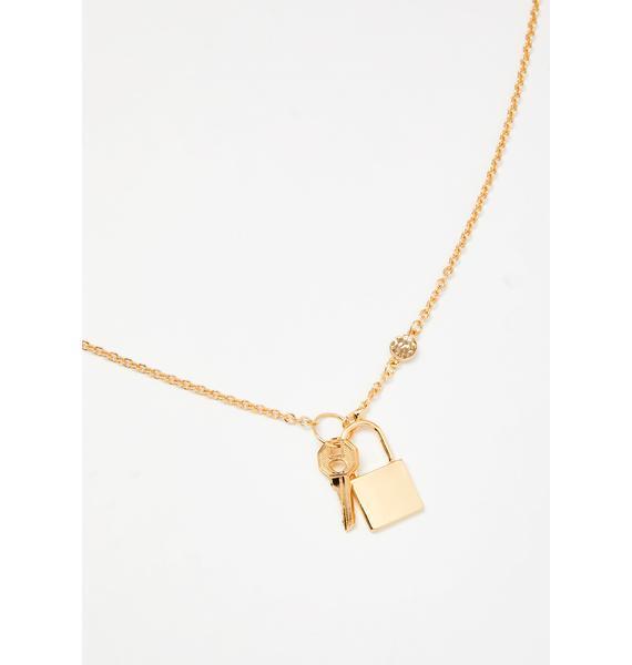 Unlocked Desire Chain Necklace