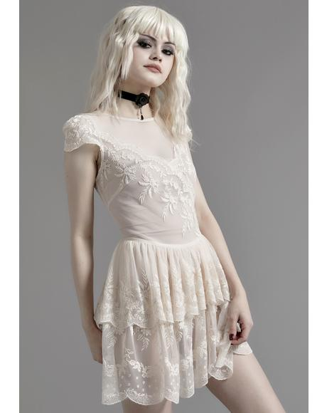 Twisted Tea Party Lace Dress
