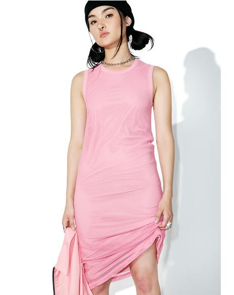 Pink Redondo Mesh Dress