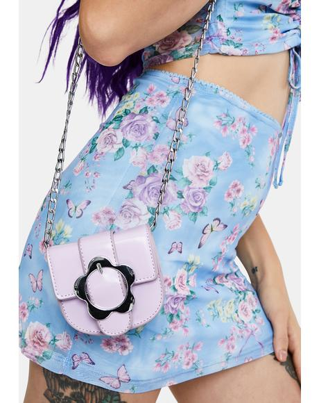 Lavender Once And Floral Mini Crossbody Bag
