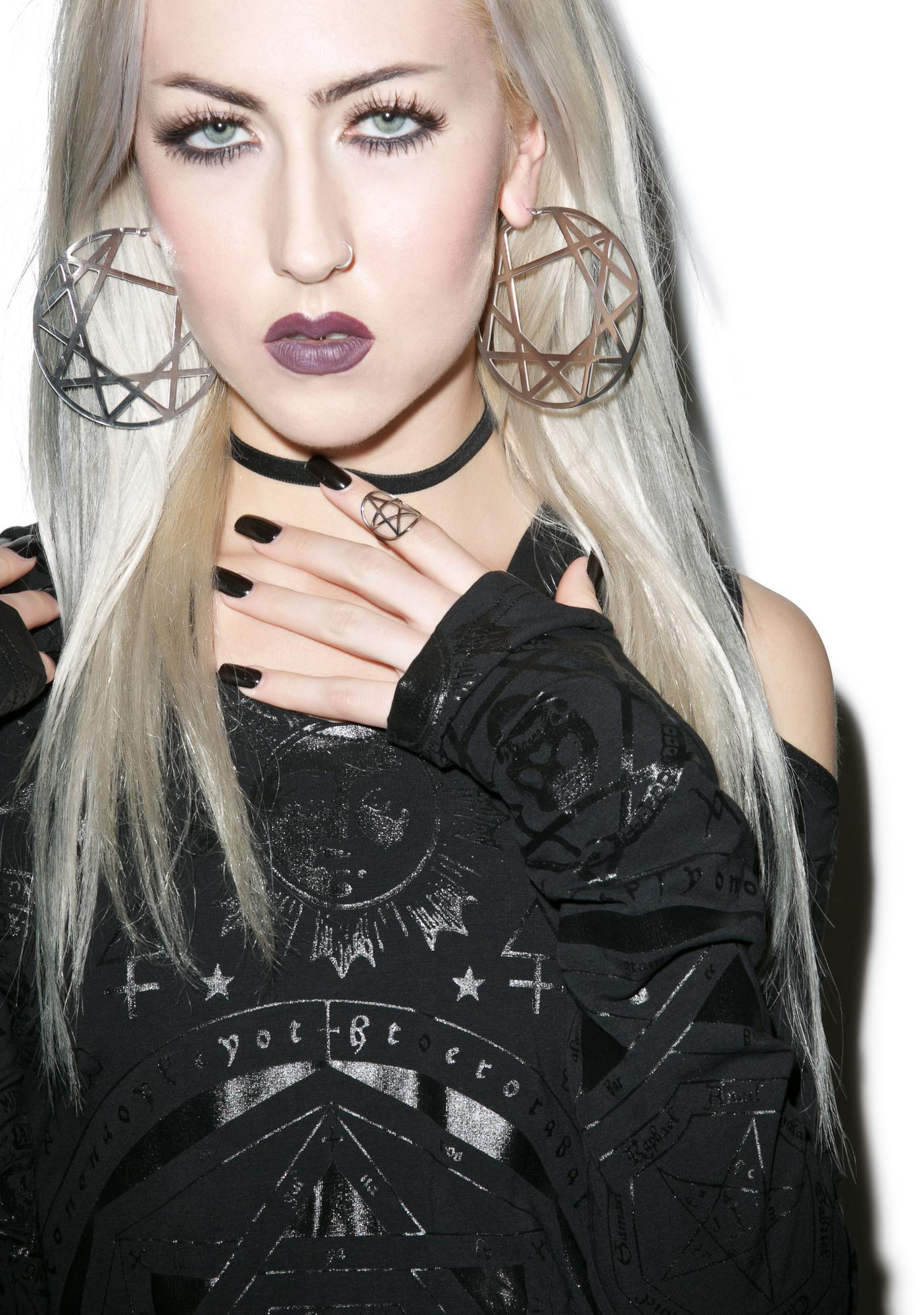 Killstar Enneagram Hoop Earrings