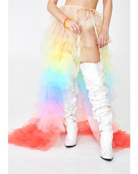 Prismatic Dreamer Tulle Skirt