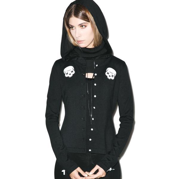 Sourpuss Clothing Party Skull Cardigan